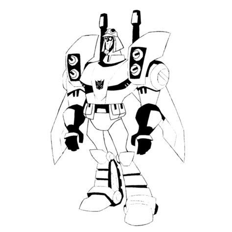 disegni robot da colorare per bambini disegno di blitzwing transformers da colorare per bambini