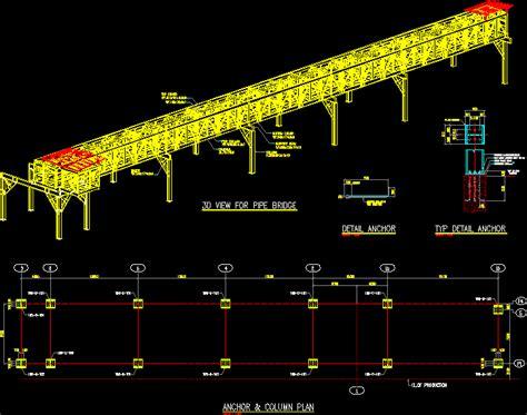pipeline pipe bridge indonesia dwg plan  autocad