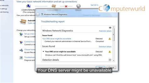 dns server might be unavailable windows network