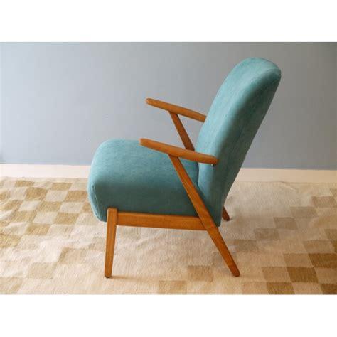 fauteuil vintage scandinave bleu design 50 la maison retro