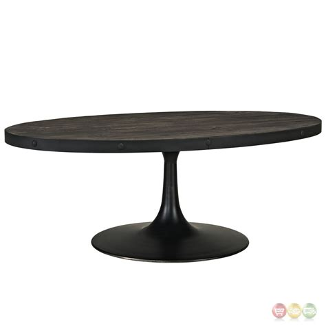 round pedestal coffee table drive industrial modern round wood top coffee table w cast