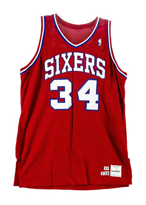 lot detail  charles barkley game worn philadelphia