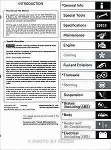 1997 Acura Integra Type R Repair Shop Manual Original