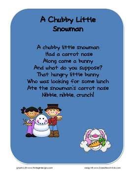 snowman song chart by 2care2teach4kids tpt 732   original 145436 1