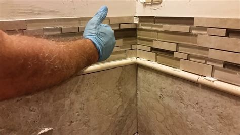 how to install glass tiles on kitchen backsplash how to install glass mosaic tile in bathroom shower part 9768