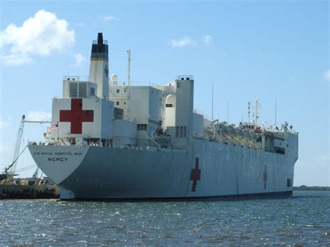 Navy Hospital Ship, Usns Mercy, Arrives In The Philippines
