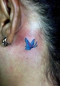 Kleiner Schmetterling Tattoo : 55 beste ohr tattoos designs und ideen ~ Frokenaadalensverden.com Haus und Dekorationen