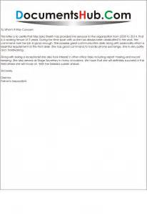Acknowledgement Letter Format Sample Experience Letter For Receptionist