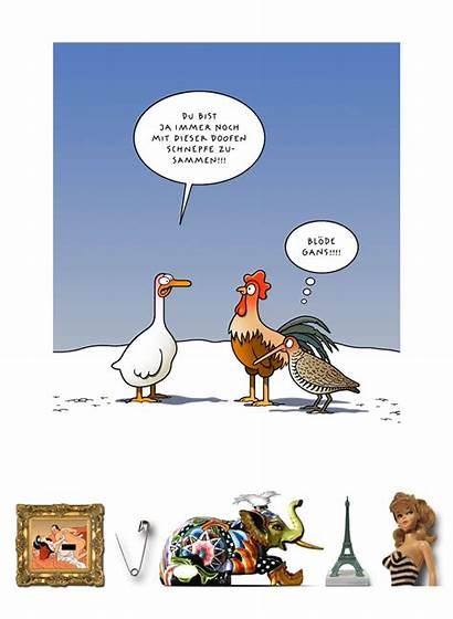 Tetsche Cartoon Gans Lustige Lustig Cartoons Zeichentrick