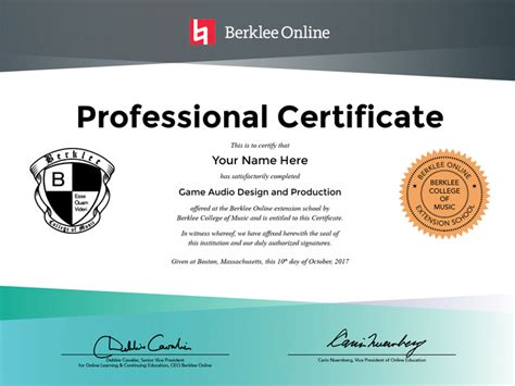 free advertising courses with certificates audio design and production professional certificate