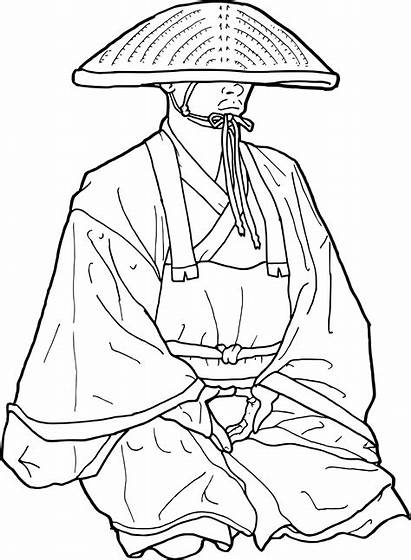Coloring Japanese Temple Japan Pages Svg Drawing