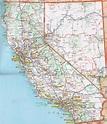 Printable Map of Detailed Road Map of California, Road ...