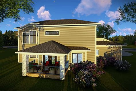 House Plan 75464 Modern Style with 2777 Sq Ft 3 Bed 2