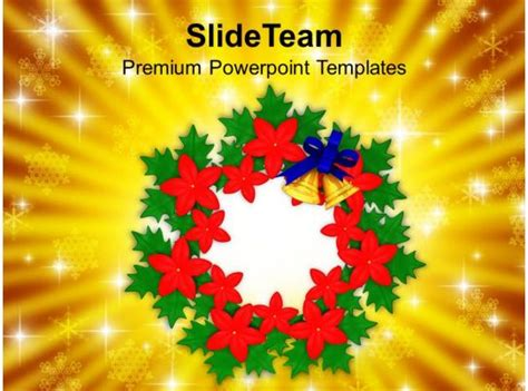 christian christmas bell wreath decorations powerpoint