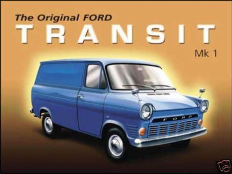 ford transit mk enamel metal sign van gift car gift