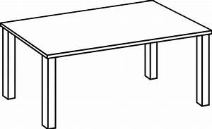 Table Clipart Black And White Clipart Panda - Free