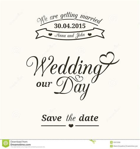 wedding typography stock vector illustration of label 50515399