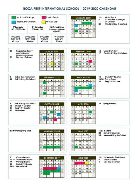 bpis calendar boca prep international school