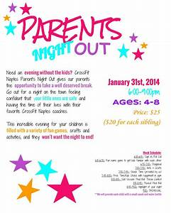 parents night out naples strength conditioning With parent flyer templates
