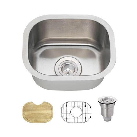 mr direct all in one undermount stainless steel 15 in