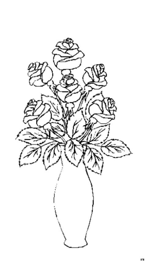blumenvase ausmalbild malvorlage blumen