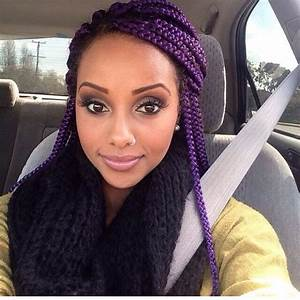 Purple Box Braids Hair Colors Ideas