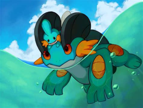 Pokemon Mudkip and Swampert