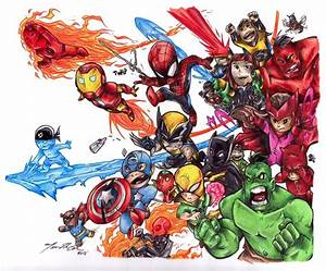 Baby Avengers Inked and Colored by troach31282 on DeviantArt