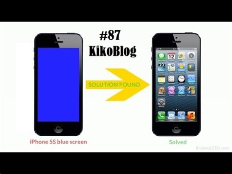 iphone 5s blue screen iphone 5s blue screen solution easy fix and fix 87