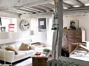 20 petits salons plein de caractere elle decoration for Amazing meubles pour petits espaces 9 salon au style industriel bois metal