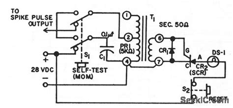 Transient Pulse Detector Measuring Test Circuit