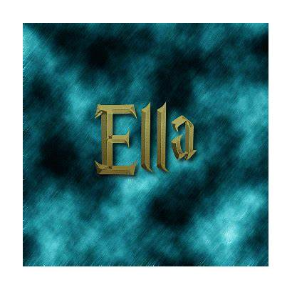 Ella Logos Text Flamingtext
