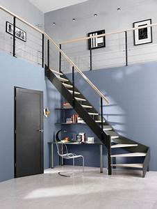 Rampe Escalier Lapeyre : escalier en metal lapeyre pallier quart tournant couleur cr me marches en granit travaux ~ Carolinahurricanesstore.com Idées de Décoration