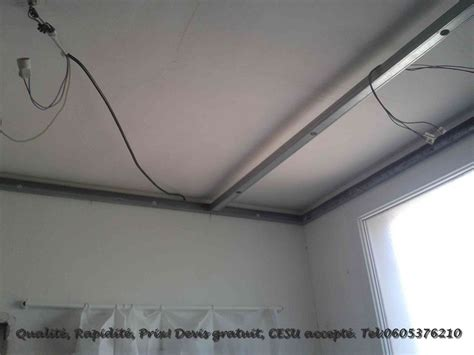 pose placo plafond renovation r 233 novation cuisine pose faux plafond