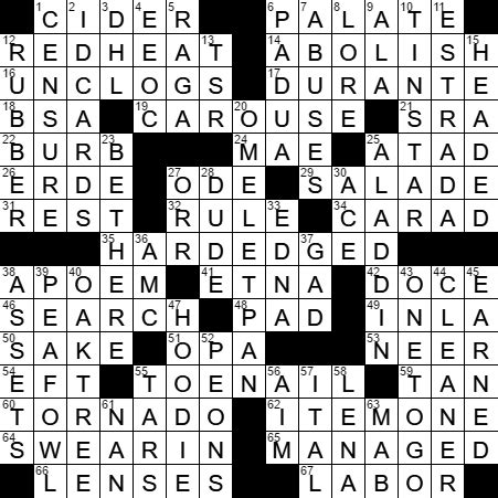 empire actress long crossword puzzle clue laxcrossword answers to the la times crossword