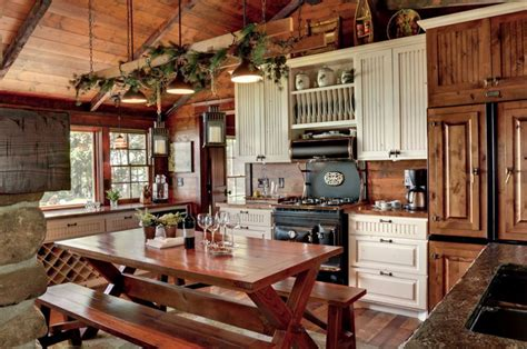 country rustic kitchens bring scheme into home decorations with rustic 2959