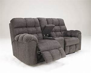 Recliner loveseatgenuine leather reclining loveseat sofa for Sectional sofa with double recliner