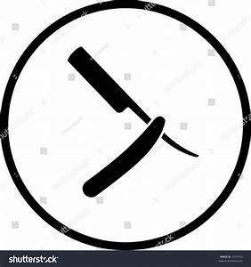 Barber Knife Symbol Stock Vector 2507433