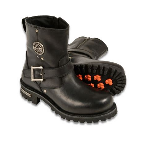 wide moto boots wide men 39 s motorcycle boots pure leather 6 inch classic