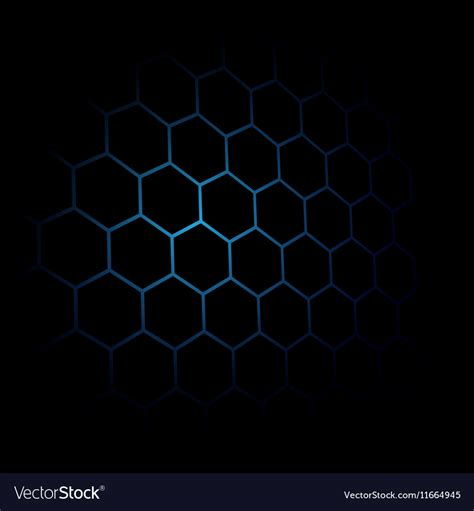 Abstract And Black Pattern Background by Abstract Black Hexagon Pattern Background Blue Vector Image