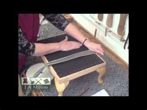 How To Make An Ottoman Out Of A Table by How To Make A Footstool Part 1