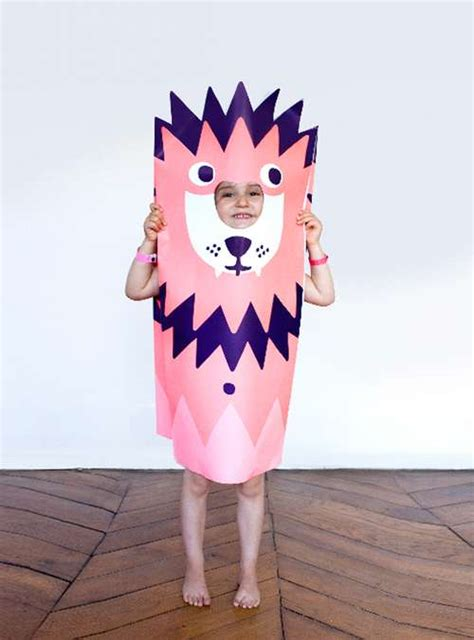 paper craft kids costumes paper costumes
