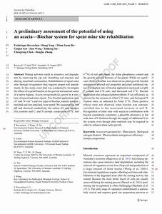 (PDF) A preliminary assessment of the potential of using ...