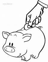 Money Coloring Pages Printable Dollar Save Saving Drawing Bill Cool2bkids Bullet Piggy Bank Savings Sheets Sign Printables Fake Worksheets Getcolorings sketch template