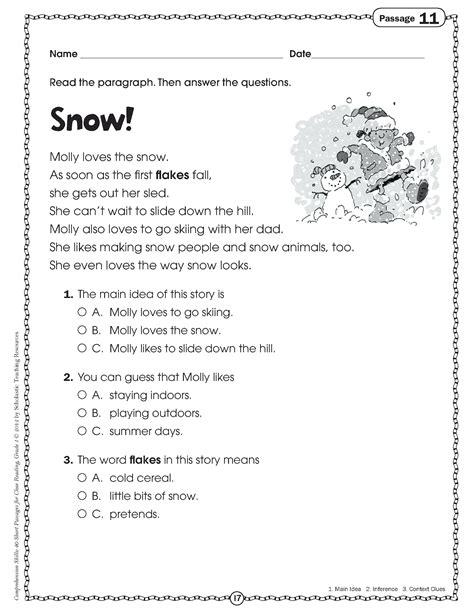 worksheet reading comprehension worksheets middle school