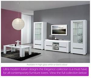 White high gloss dining furniture and sets em italia for White gloss furniture living room