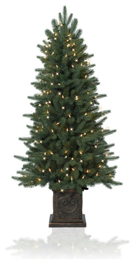modern lighted christmas tree balsam hill 12 39 mount washington white artificial