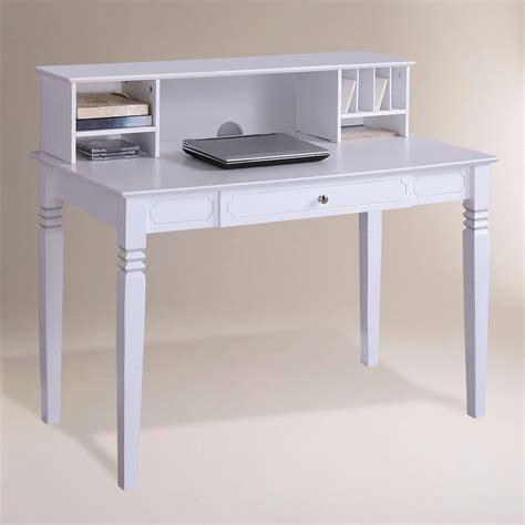 white office desk with hutch white desk