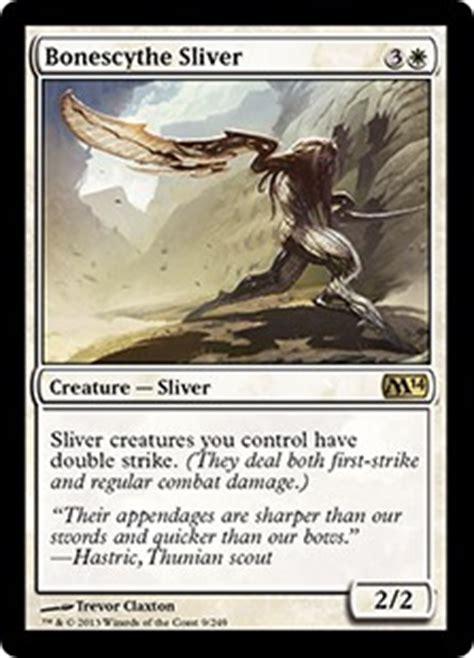 best sliver deck magic 2014 bonescythe sliver magic 2014 set gatherer magic