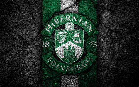 Download wallpapers FC Hibernian, 4k, emblem, Scottish ...